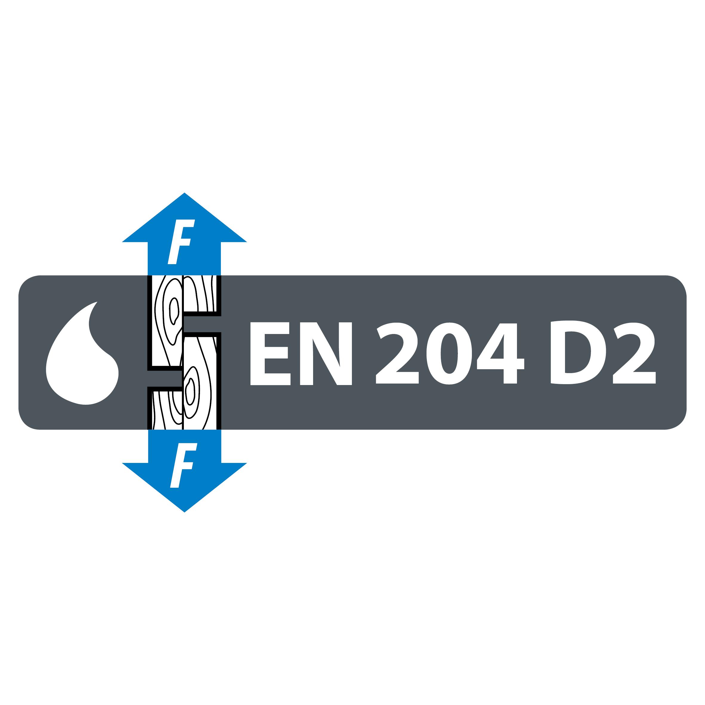EN 204 D2 -vedenkestoluokitus