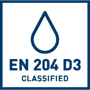 EN 204 D3 -vedenkestoluokitus