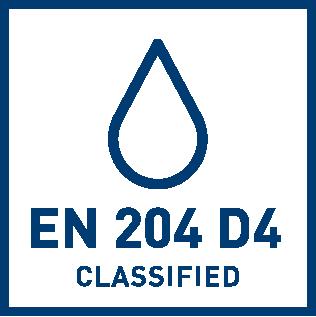 EN 204 D4 –vedenkestoluokitus